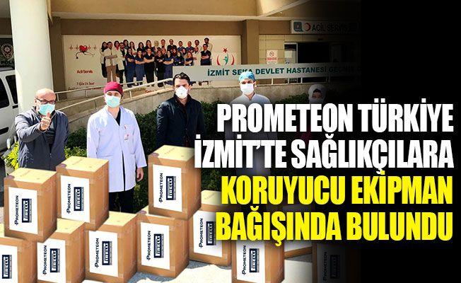 Prometeon Türkiye, İzmit'te sağlıkçılara koruyucu ekipman bağışında bulundu