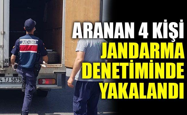 Kocaeli'de aranan 4 kişi jandarma denetiminde yakalandı