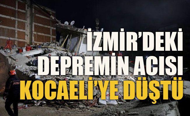 İzmir'deki depremin acısı Kocaeli'ye düştü