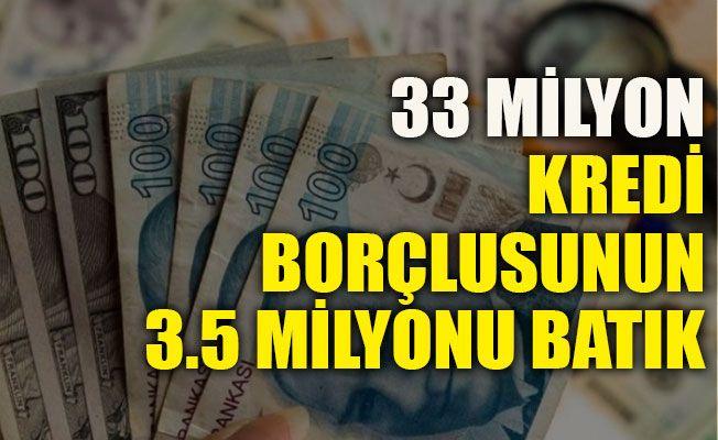 33 milyon kredi borçlusunun 3.5 milyonu batık