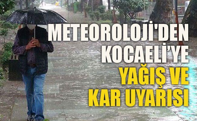 Meteoroloji'den Kocaeli'ye yağış ve kar uyarısı