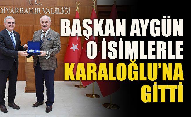 Başkan Aygün o isimlerle Karaloğlu'na gitti