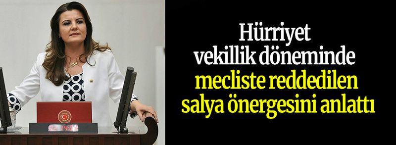 Hürriyet vekillik döneminde mecliste reddedilen salya önergesini anlattı
