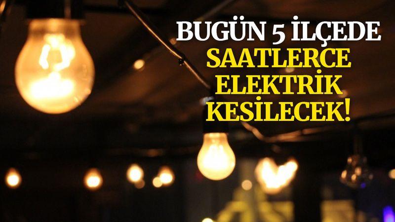 Kocaeli'de bugün 5 ilçede elektrik kesintisi var