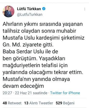Türkkan'dan saldırı açıklaması