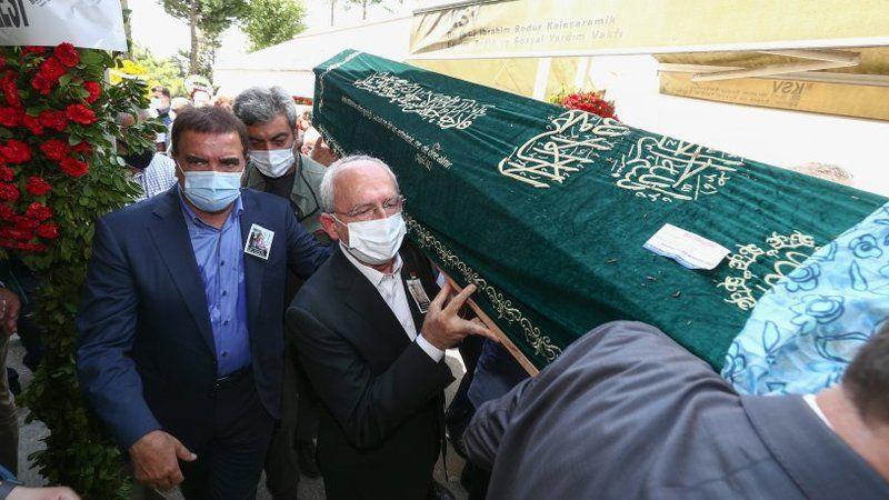 Kılıçdaroğlu, Nermin Güneş'in cenaze törenine katıldı