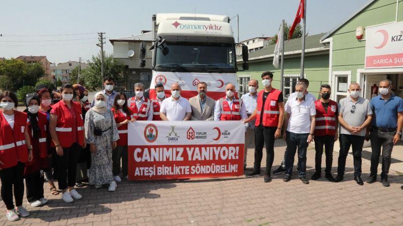 Darıca'dan Manavgat'a yardım TIR'ı