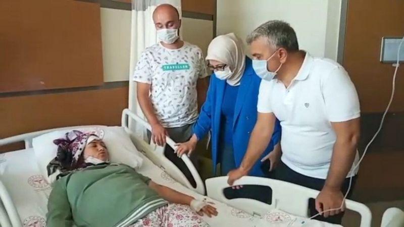 Kazadan yaralı kurtulan kadın, yaşadıklarını anlattı