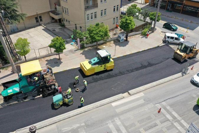 O caddede yol konforu artırılıyor