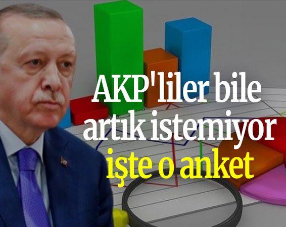 AKP'liler bile artık istemiyor işte o anket