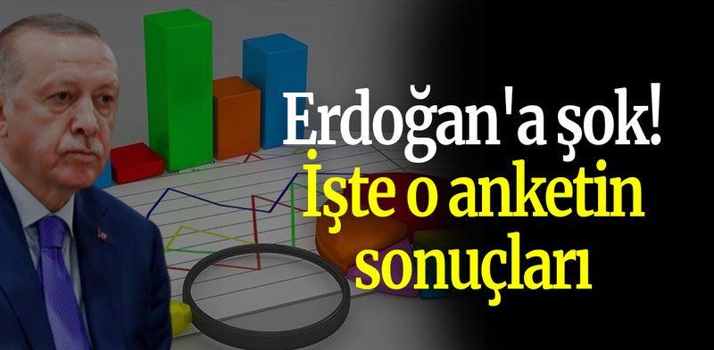 Erdoğan'a şok! İşte o anketin sonuçları