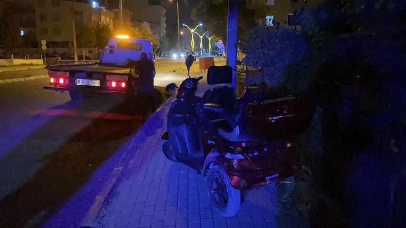 Alkollü sürücü bozuk yola girdi, hastanelik oldu