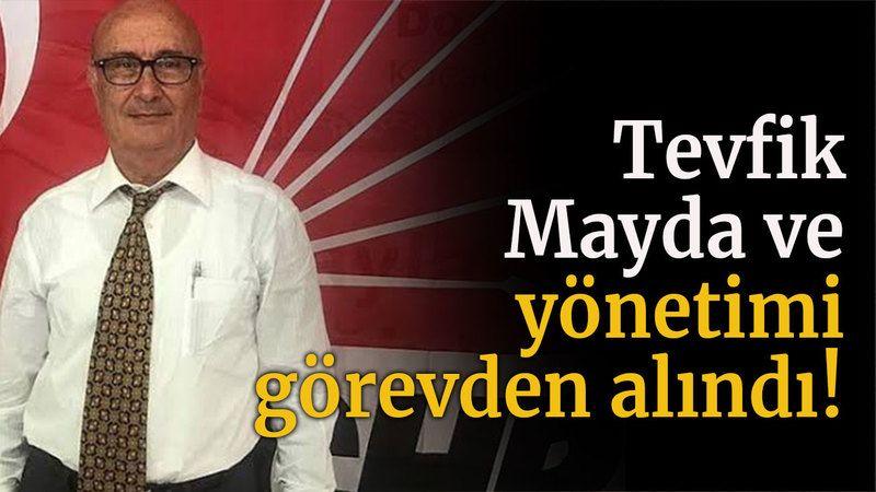 Tevfik Mayda ve yönetimi görevden alındı