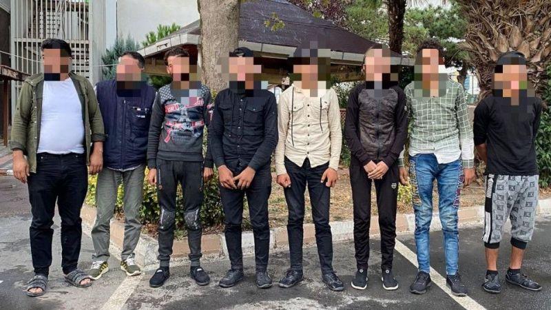 TEM'deki araçtan 8 kaçak göçmen çıktı