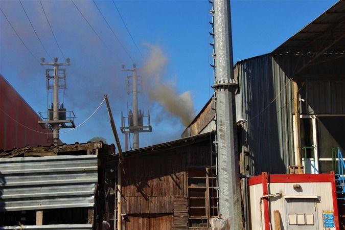 Kereste fabrikasında korkutan yangın!
