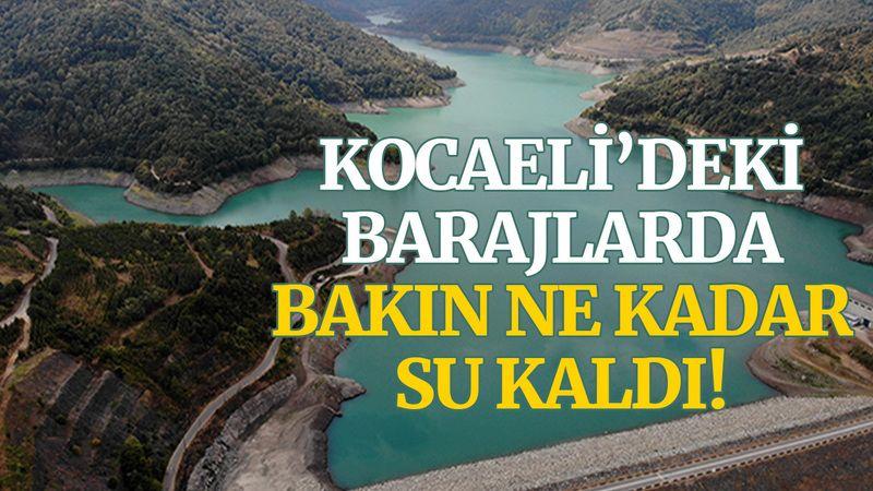 Kocaeli'deki barajlarda bakın ne kadar su kaldı!