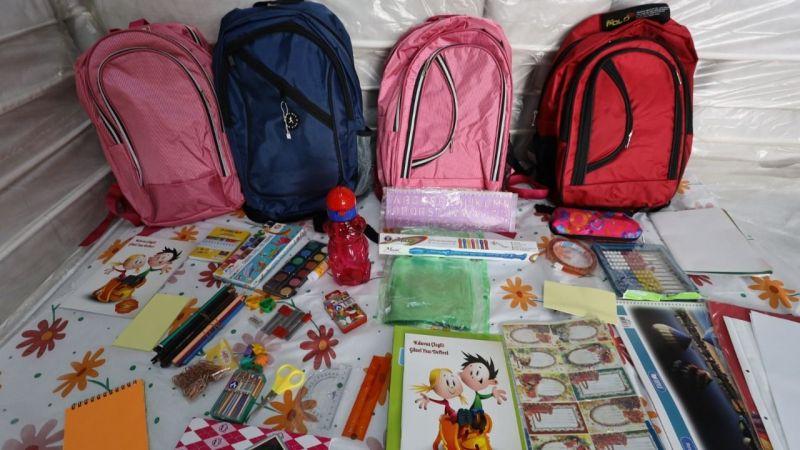 Kırsal alanlardaki birinci sınıfların okul çantası Büyükşehir'den