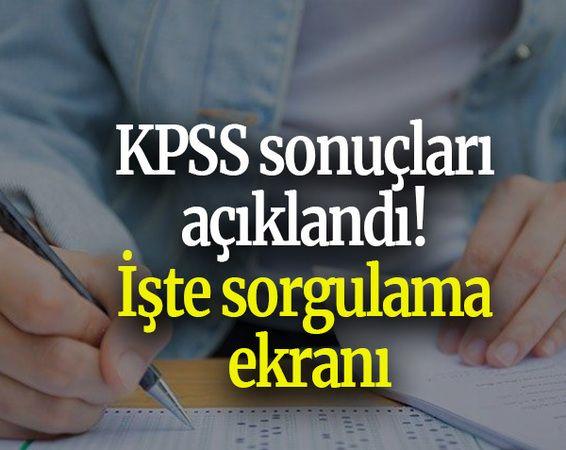 KPSS sonuçları açıklandı! İşte sorgulama ekranı