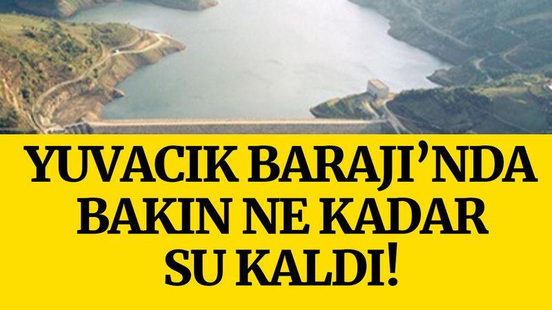 Yuvacık Barajı'nda doluluk oranı bakın kaça düştü!