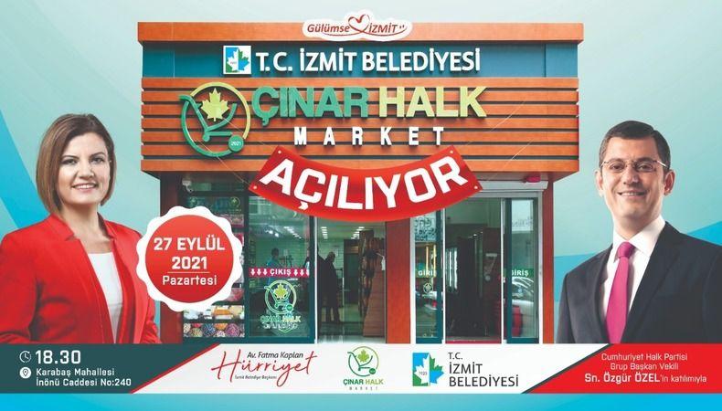 Çınar Halk Market Özgür Özel'le açılıyor