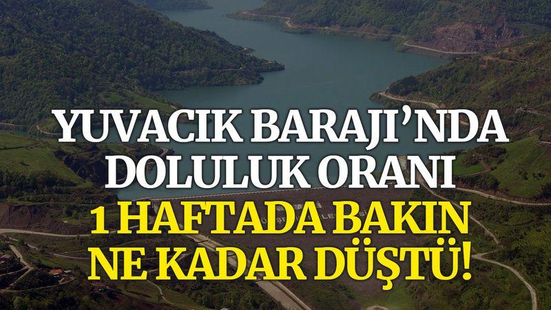 Yuvacık Barajı'nda doluluk oranı 1 haftada bakın ne kadar düştü!