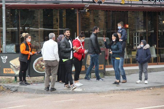 Kentin ünlü güzellik merkezi önünde ortakların tekme tokat kavgası
