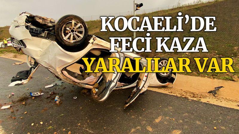 Kocaeli'de otomobil takla attı, çoksa sayıda yaralı var