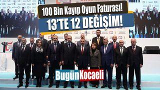 Kocaeli'nde 100 Bin Kayıp Oyun Faturası! 13'te 12 Değişim!
