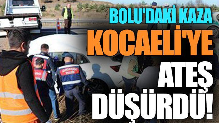 Bolu'daki Kaza Kocaeli'ye Ateş Düşürdü!