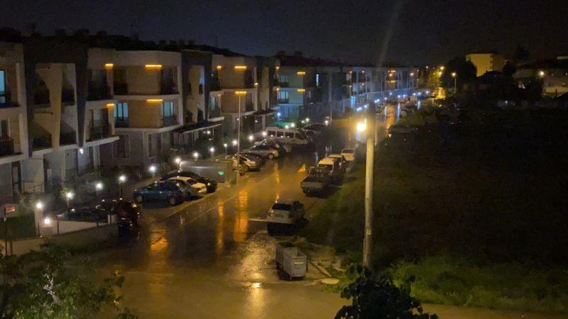 Düzce'de gece 84.1 kilogram yağış düştü