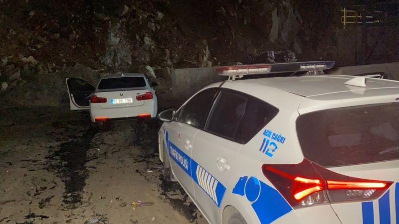 Çalınan lüks otomobil, 140 kilometrelik kovalamaca sonucu bulundu