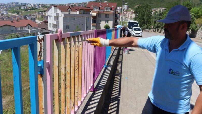 Kocaeli Haber - Sokakları Renklendirme Çalışmaları Devam Ediyor