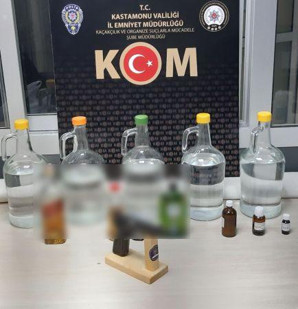KOM ekiplerinden kaçak içki operasyonu