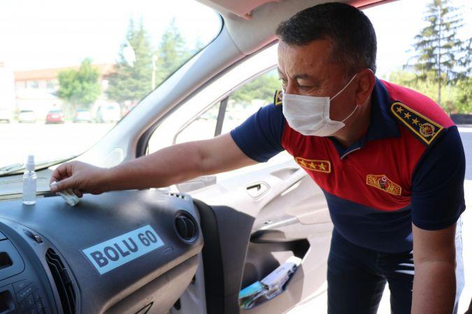 Araçlarda unutulan dezenfektan şişelerine karşı uyarı