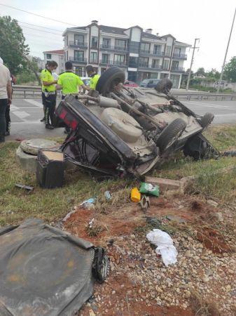 Sakarya'da acı kaza: 1 ölü, 1 yaralı