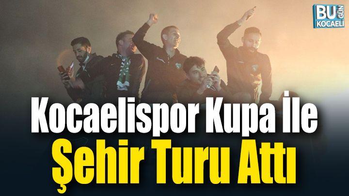 Kocaeli Haber - Kocaelispor Şampiyonluk Kupası ile Şehir Turu Attı