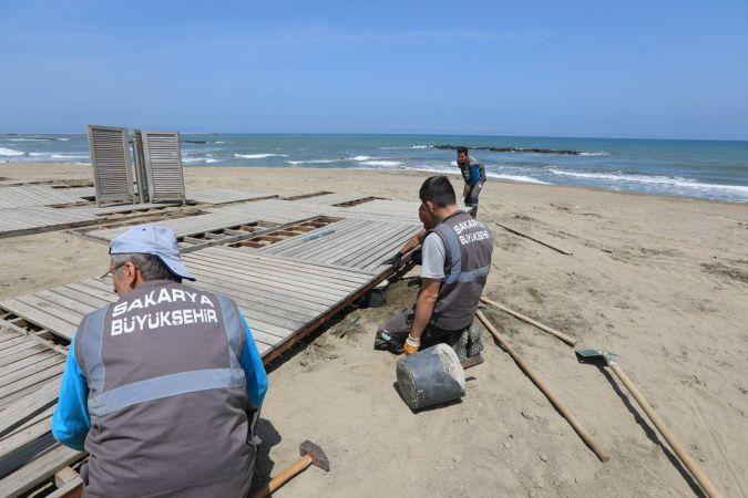 Binlerce kişiye ev sahipliği yapacak olan sahil yaza hazırlanıyor