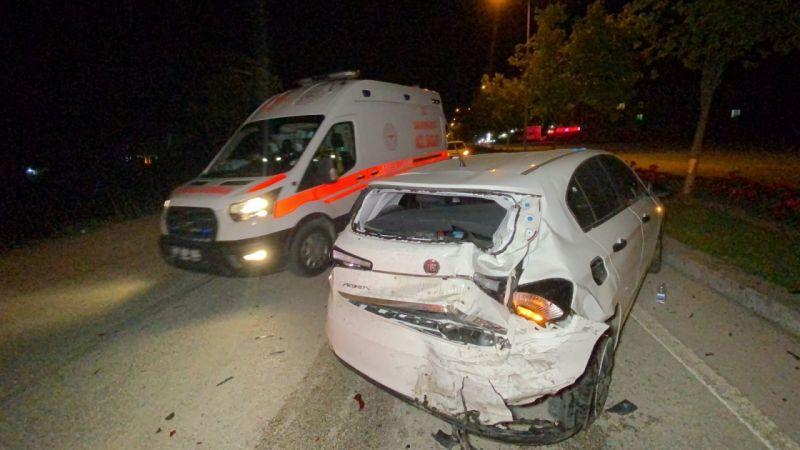 Düzce'de 2 ayrı kazada 1 kişi yaralandı