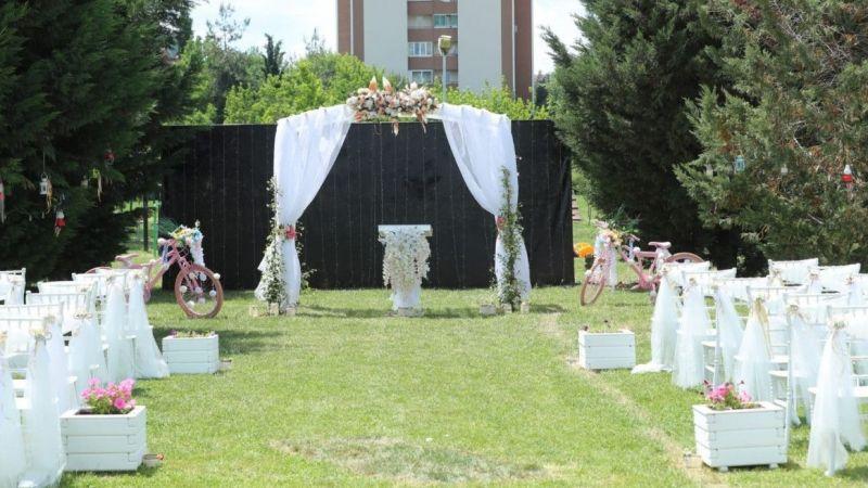 Kocaeli haber - Gülümse Kafe'de nikah alanı oluşturuldu
