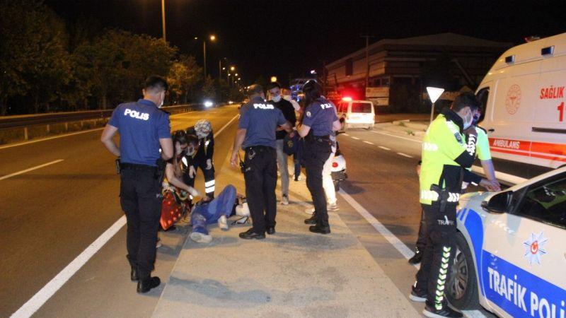 Kocaeli Haber - Motosiklet Savruldu, Sürücü ve Arkadaşı Yaralandı