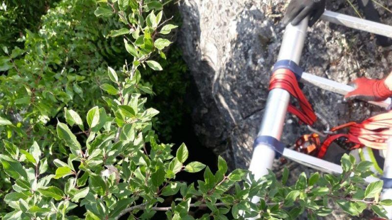 Kocaeli haber - Mağaraya düşen keçi için zorlu kurtarma operasyonu