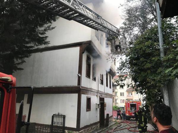 Kastamonu'da tarihi konakta yangın çıktı
