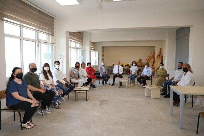 Başkan Özlü'den, Güzel Sanatlar Fakültesine ziyaret