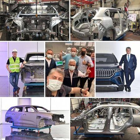 Kocaeli Haber - Yerli Otomobilin İlk Gövde Montajı Kocaeli'de Yapıldı!