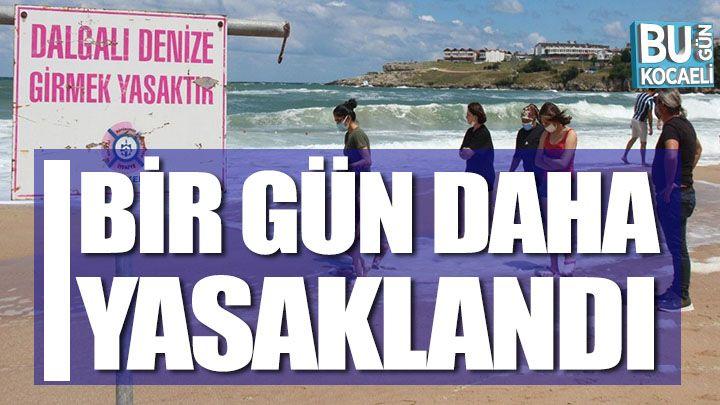 Kocaeli haber- Kandıra'da denize girme yasağı 1 gün daha uzatıldı