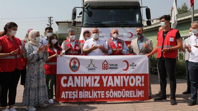 Kocaeli Haber - Darıca'dan Manavgat'a yardım tırı