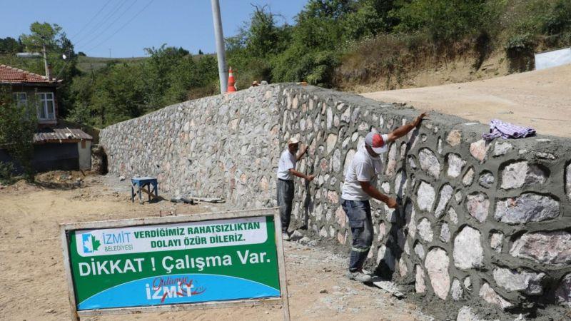 Kocaeli Haber -Nebihoca Mahallesi'ne bir istinat duvarı daha yapıldı