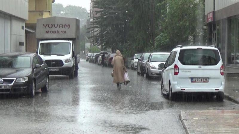 Hafta sonu Düzce'ye 456,6 kilogram yağış düştü