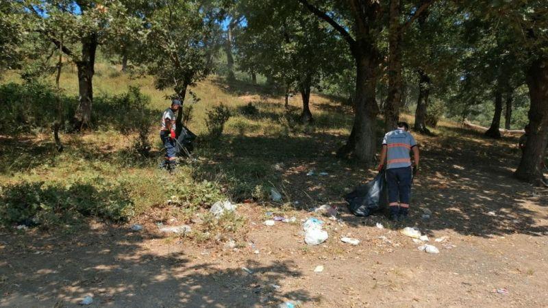 Kocaeli Haber - Mesire alanlarında temizlik çalışmaları