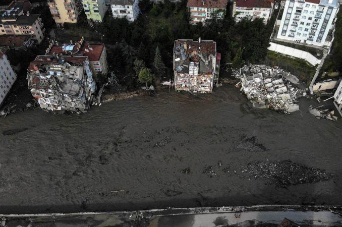Sel felaketinin yaşandığı Bozkurt'taki son durum fotoğraflara yansıdı